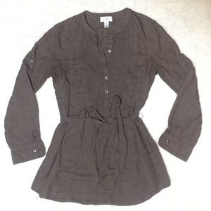 Ann Taylor LOFT Soft Brown Tunic